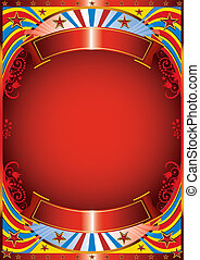 Modern circus flyer - Circus background with a florish frame