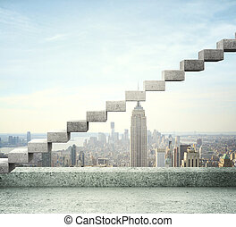career stair - modern city and career stair