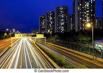 modern city at night