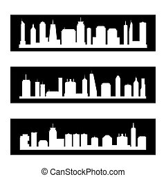 Modern city banners