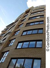 Modern City Building - Fragment of beautiful new high modern...