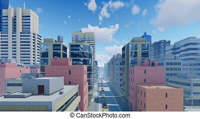 Modern city daytime time lapse 4K