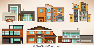 Modern city houses