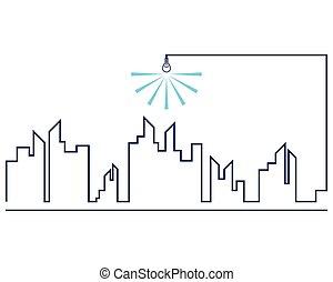 Modern city line
