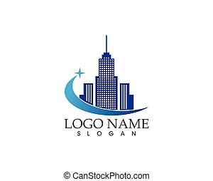 Modern city logo vector template