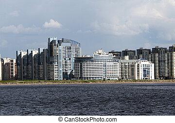 modern city saint-petersburg - view of a modern city...