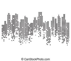 Modern City skyline . city silhouette.