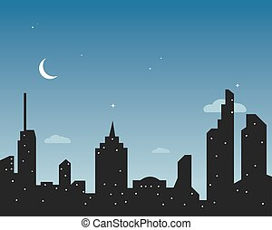 modern city skyline vector landscape
