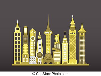 Modern City Vector Illustration