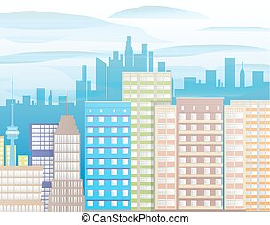 Modern City View. Cityscape
