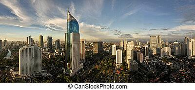 Jakarta City Panoramic in high detail