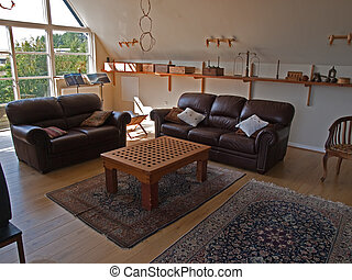 Modern classical design cozy living family room