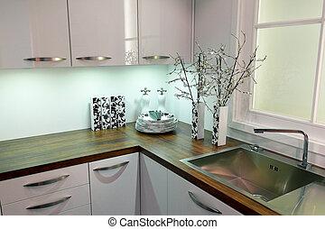 Modern clean kitchen