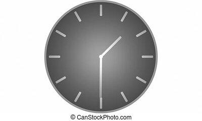 Modern Clock 12Hr Time-lapse 60fps