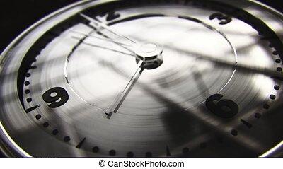 Modern Clock Face, 8 On The Dot - Noir Grade - Realistic 3D...