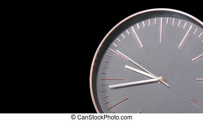 Modern Clock Face Fast Time Lapse