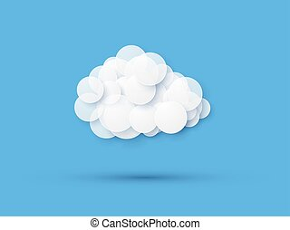 modern cloud icon on blue background