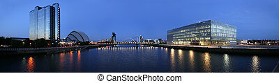 modern clyde - The modern skyline of Glasgow's River Clyde ...