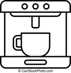Modern coffee machine icon. Outline modern coffee machine vector icon for web design isolated on white background
