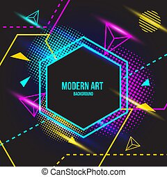 Modern color Art background