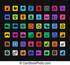 Modern color icons collection