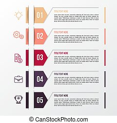 Modern color infographic template