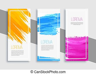 Modern colorful banner background