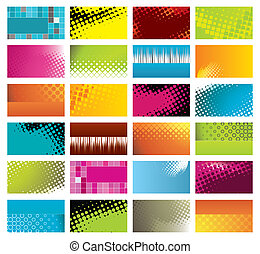 modern, colorful business cards