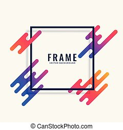 modern colorful frame design with text space