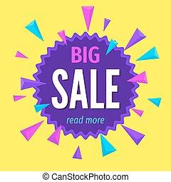 Modern colorful geometric big sale banner template.
