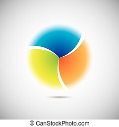 Modern colorful geometrical circle