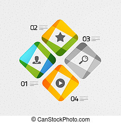 Modern colorful geometrical infographic - Modern colorful...
