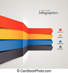 Modern colorful infographics design. Vector illustration