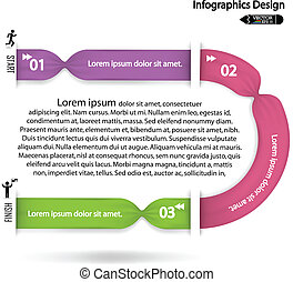 Modern colorful infographics option