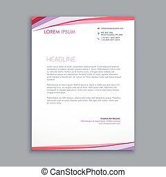 modern colorful letterhead design