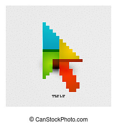 Modern colorful paper arrow design - Modern colorful paper...