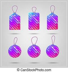 Modern colorful sale tags set. Vector illustration.