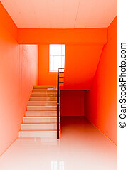 Modern colors architecture of stair and wall