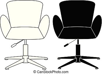 Modern comfortable elegant and stylish chair set icon vector...