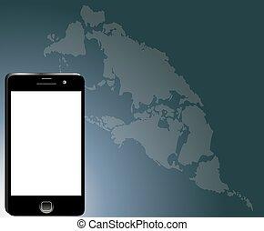 Modern communication technology map background