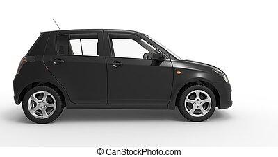 Modern Compact Car Back Side