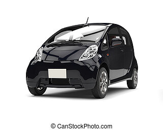 Modern compact electric black car