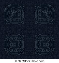 Modern, computer age shapes seamless pattern