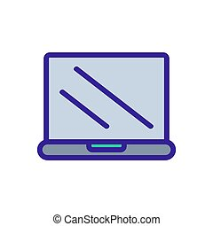 Modern computer icon vector. Isolated contour symbol illustration