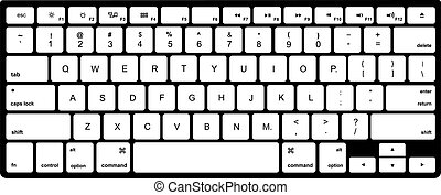 Modern  computer keyboard isolated