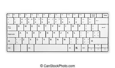 Modern computer keyboard isolated