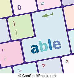 Modern Computer Keyboard key with able text on it vector illustration