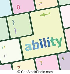 Modern Computer Keyboard key with ability text on it vector illustration