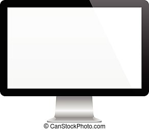 Modern Computer Monitor - Modern computer monitor with blank...