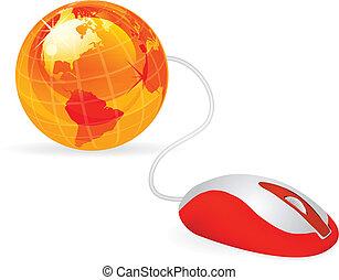 modern computer mouse - modern orange computer mouse ...